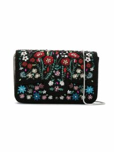 Isla embroidered clutch - Black