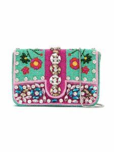 Isla embroidered shoulder bag - Multicolour