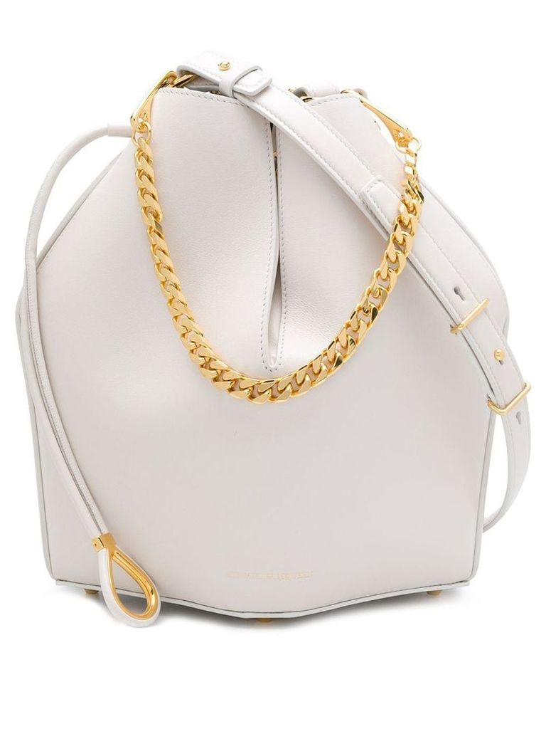 Alexander McQueen bucket shoulder bag - White