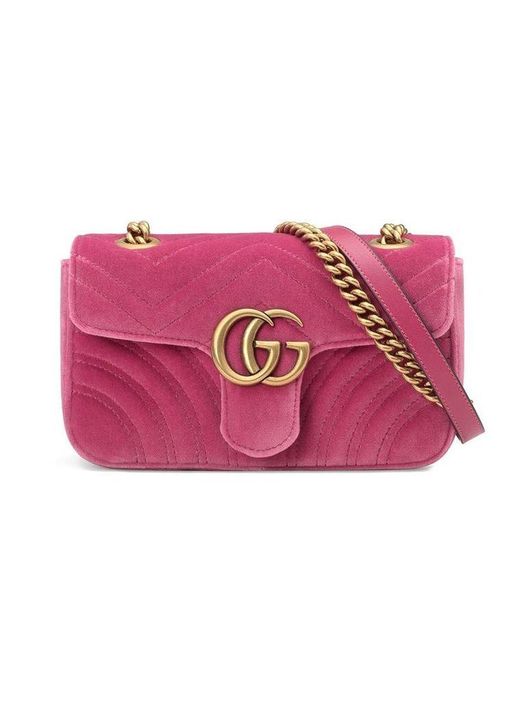 Gucci GG Marmont velvet mini bag - Pink