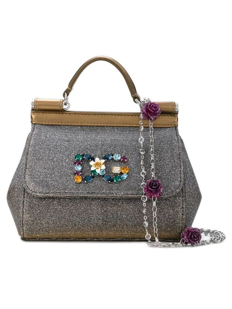 Dolce & Gabbana mini Sicily shoulder bag - Metallic