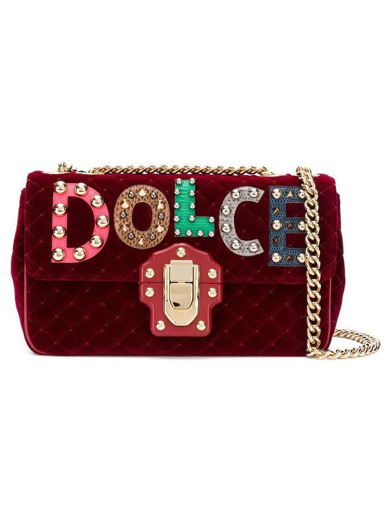 Dolce & Gabbana Lucia quilted shoulder bag - Red