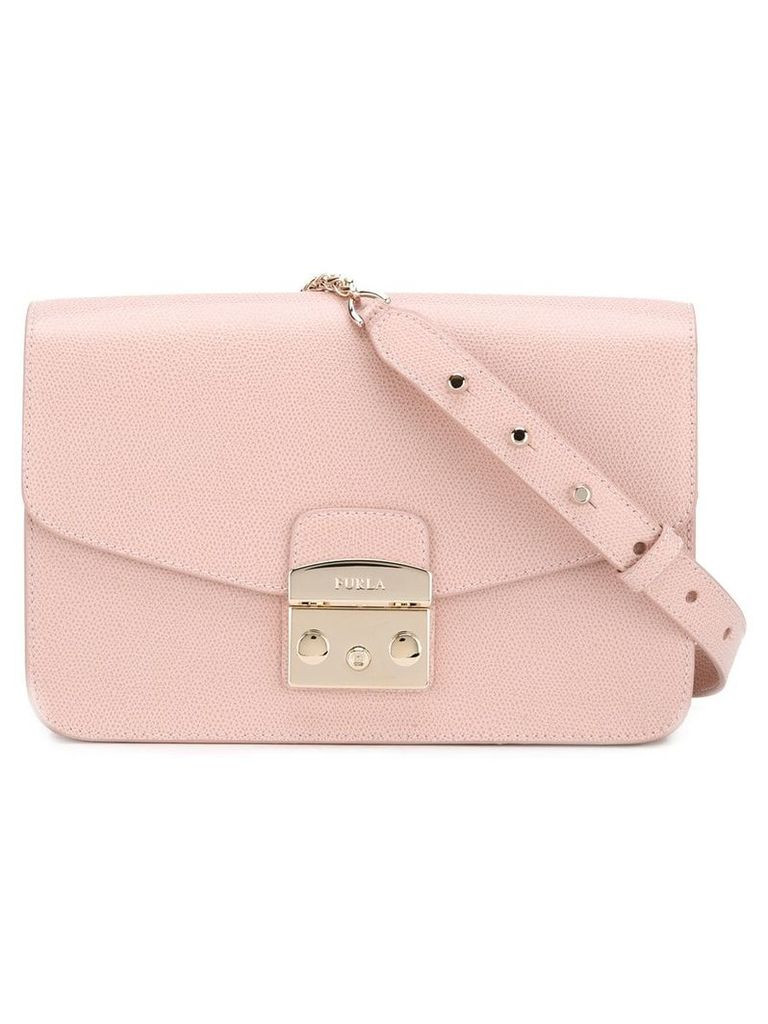 Furla studded strap shoulder bag - Pink
