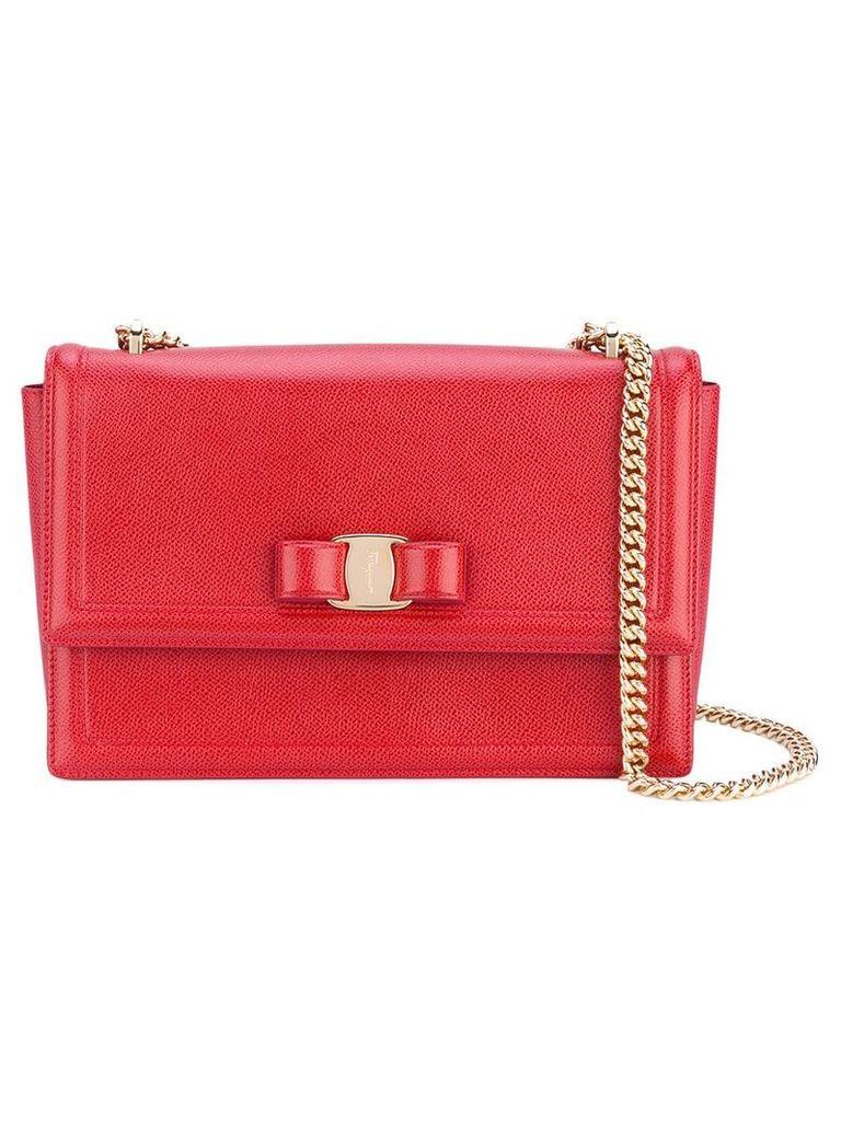 Salvatore Ferragamo medium Vara bow shoulder bag - Red