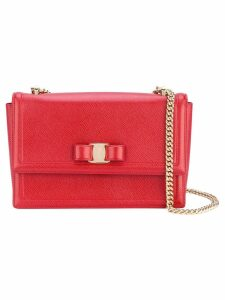 Salvatore Ferragamo medium Vara bow shoulder bag - Red