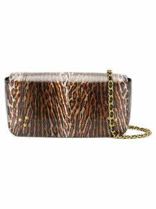 Jérôme Dreyfuss leopard shoulder bag - Brown