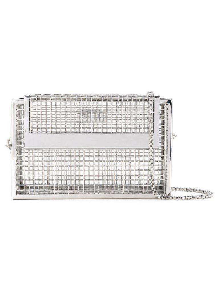 The Cartel Cage shoulder bag - Metallic