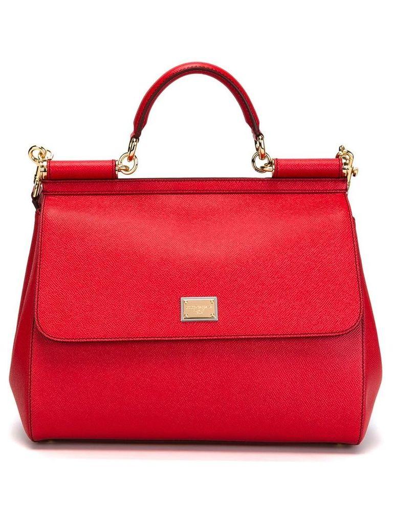 Dolce & Gabbana large Sicily shoulder bag - Red