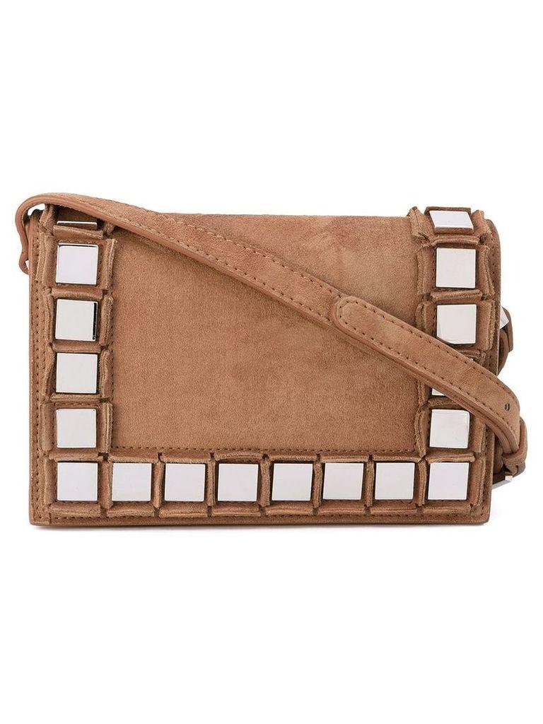 Tomasini embellished shoulder bag - Brown
