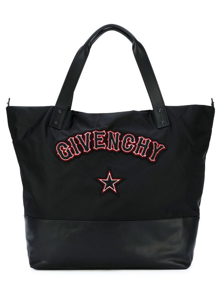 Givenchy Givenchy gothic patch shoulder bag - Black