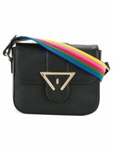 Sara Battaglia striped strap shoulder bag - Black