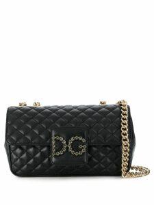 Dolce & Gabbana quilted logo shoulder bag - Black