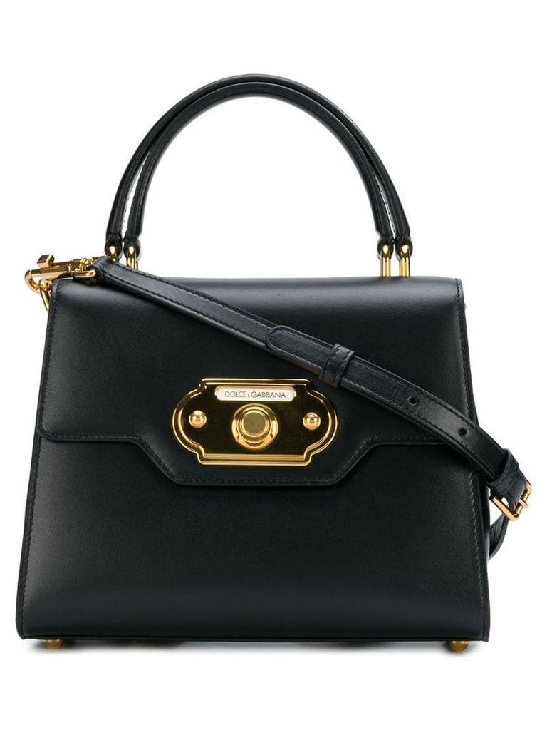 Dolce & Gabbana calfskin Welcome shoulder bag - Black
