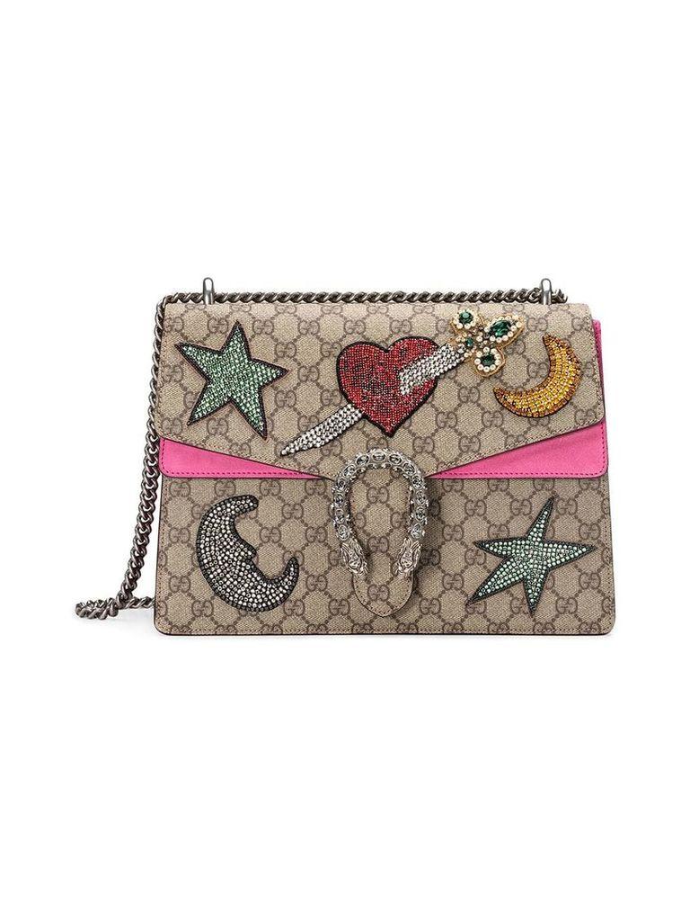 Gucci Dionysus embroidered shoulder bag - Neutrals