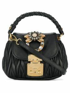 Miu Miu mini matelassé shoulder bag - Black