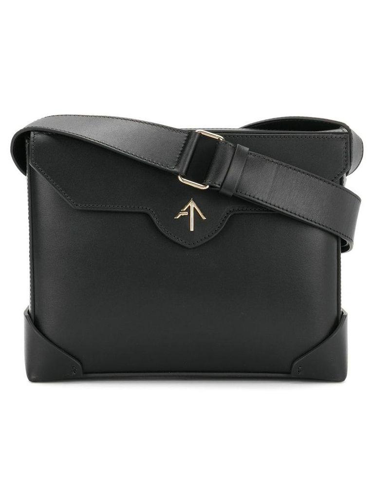 Manu Atelier rectangular shoulder bag - Black