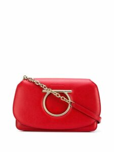 Salvatore Ferragamo Gancini leather shoulder bag - Red
