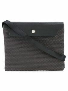 Cabas flap shoulder bag - Grey