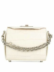 Alexander McQueen Box crocodile embossed bag - White