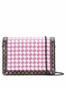 Bottega Veneta multicolour Intrecciato nappa mini montebello - Pink