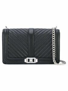 Rebecca Minkoff chevron quilted 'Love' bag - Black