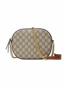 Gucci GG Supreme mini chain bag - Brown