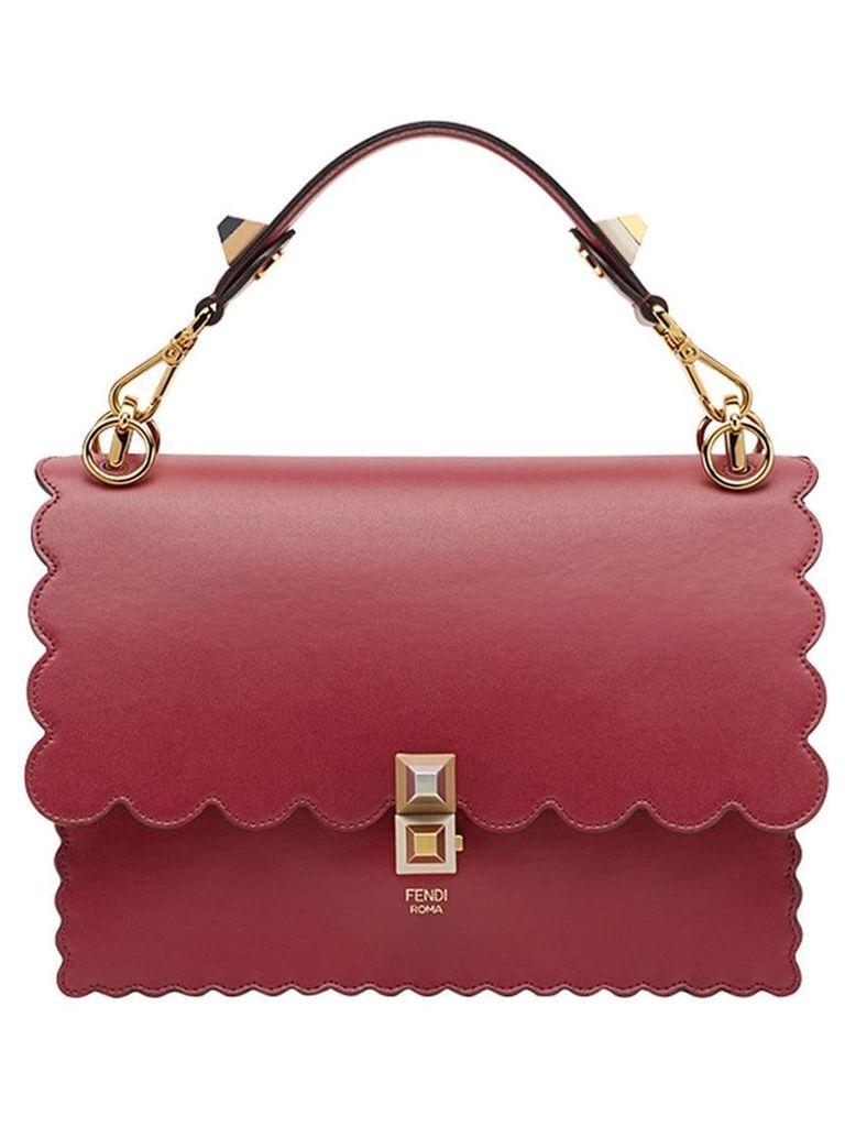 Fendi Kan I scalloped handbag - Red