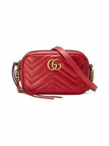 Gucci GG Marmont matelassé mini bag - Red