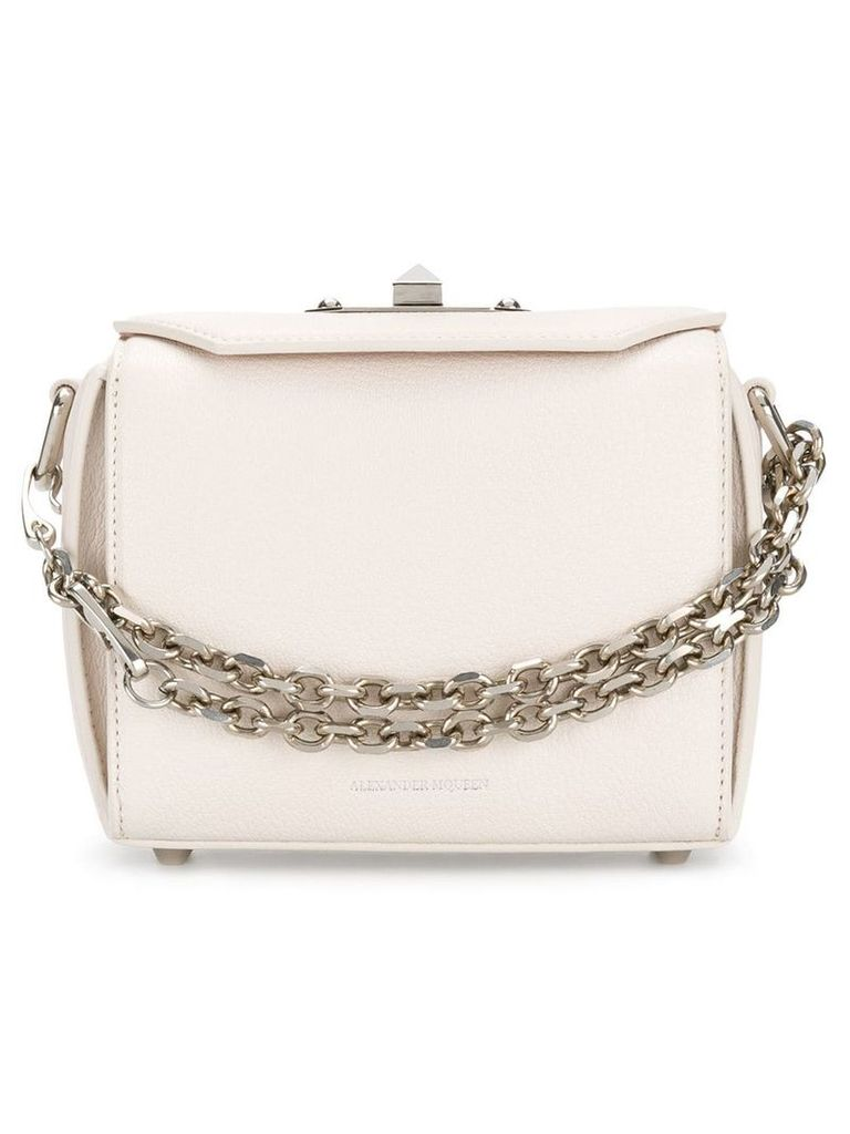 Alexander McQueen box shoulder bag - Neutrals