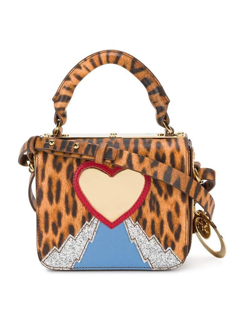 Sophie Hulme leopard heart mini bag - Multicolour