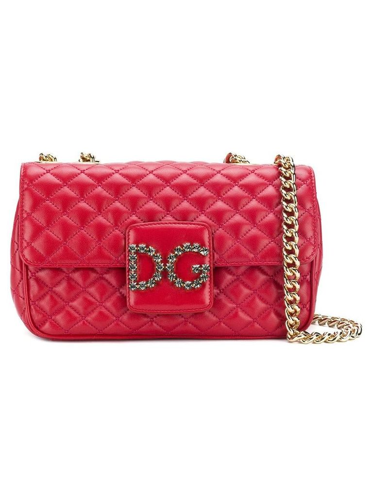 Dolce & Gabbana front logo shoulder bag - Red