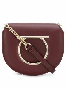 Salvatore Ferragamo Gancini flap bag - Brown
