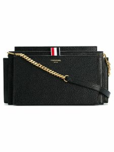 Thom Browne LUCIDO LEATHER ACCORDION BAG - Black