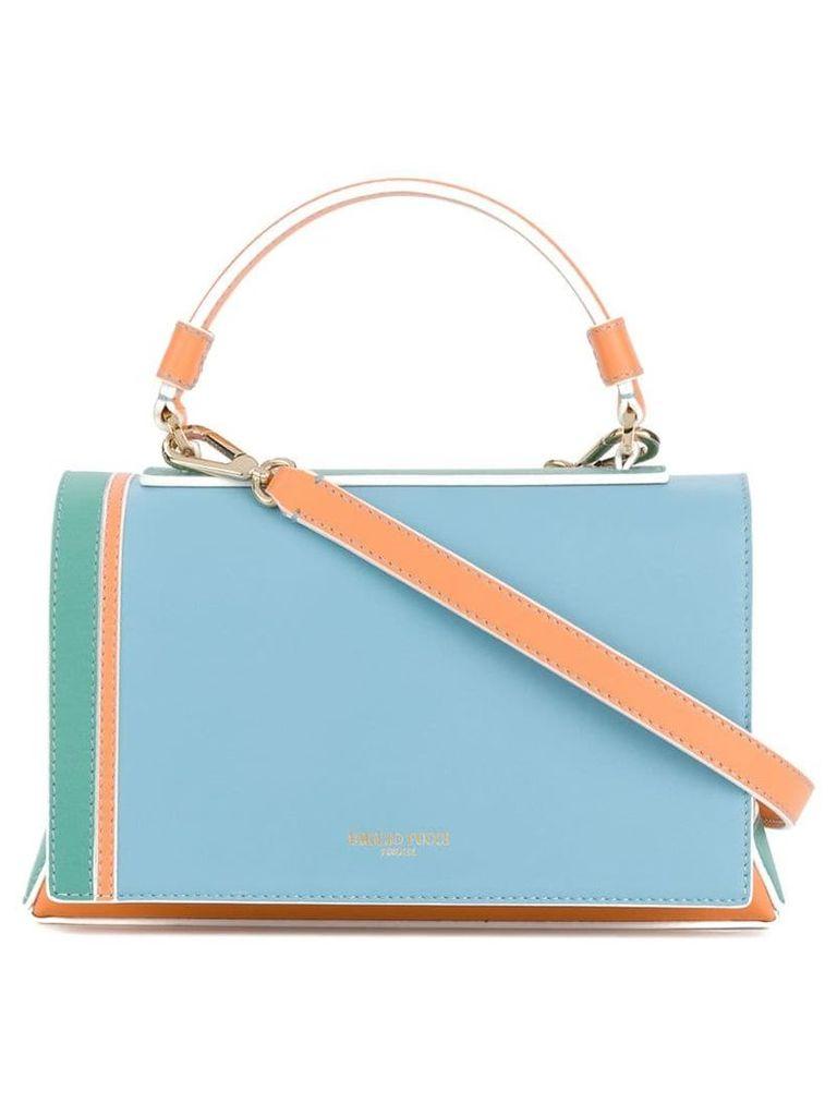 Emilio Pucci colour block shoulder bag - Multicolour