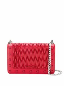 Miu Miu studded Matelassé shoulder bag - Red