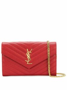 Saint Laurent Envelope chain shoulder bag - Red
