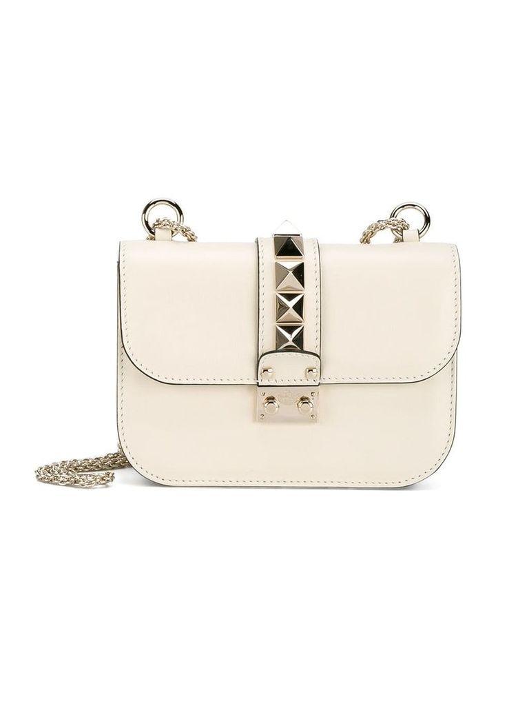 Valentino ivory Valentino Garavani 'Small Lock' shoulder bag -