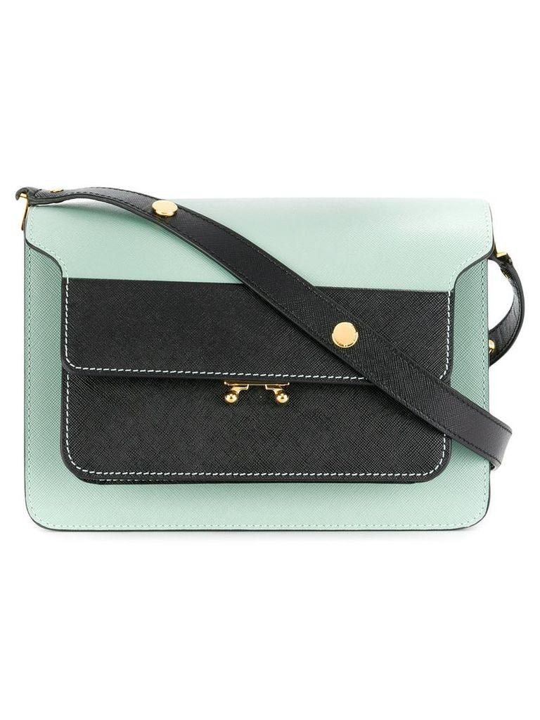 Marni contrast front shoulder bag - Blue