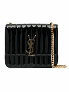 Saint Laurent black vicky medium quilted leather shoulder bag