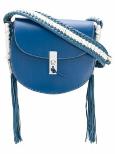 Altuzarra fringed sides detail shoulder bag - Blue