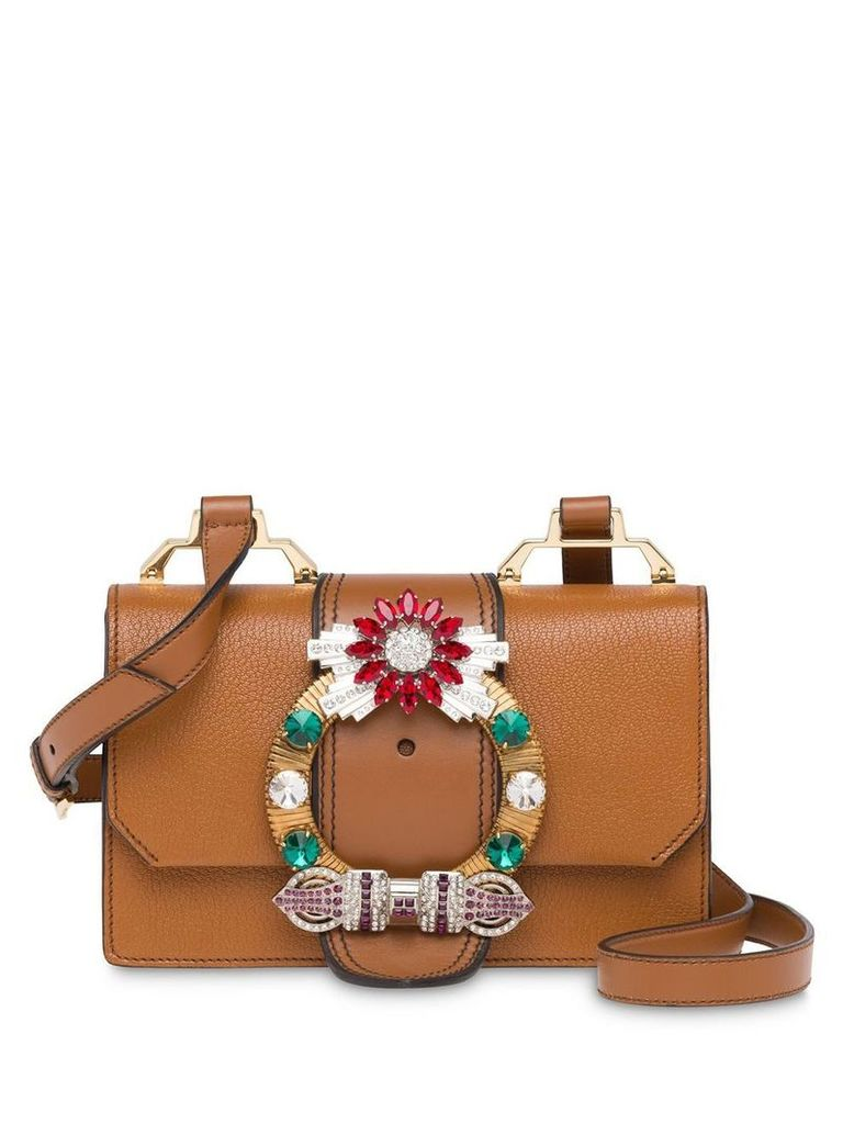 Miu Miu Madras Miu Lady shoulder bag - Brown