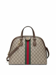 Gucci beige Ophidia GG medium top handle bag - Neutrals