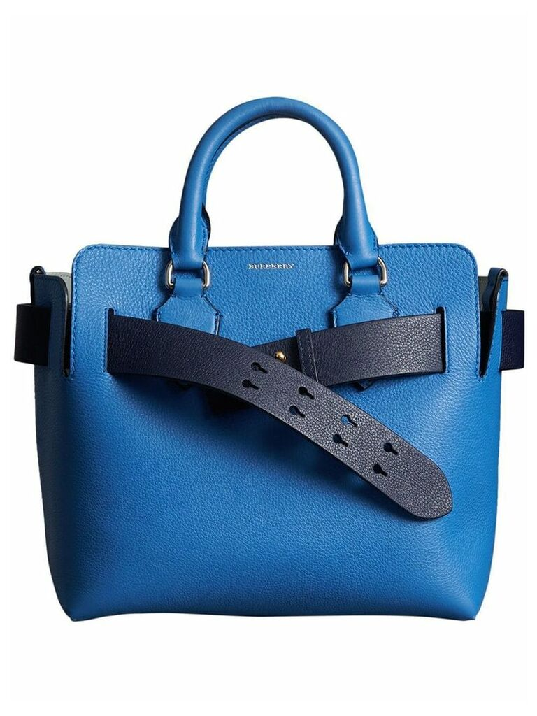 Burberry The Small Leather Belt Bag - Blue