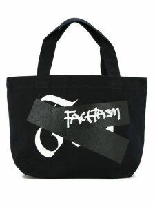 Facetasm logo small shopper tote bag - Blue