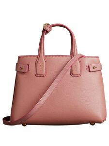 Burberry The Small Banner in Leather - Pink