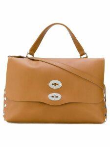 Zanellato fold over tote bag - Brown