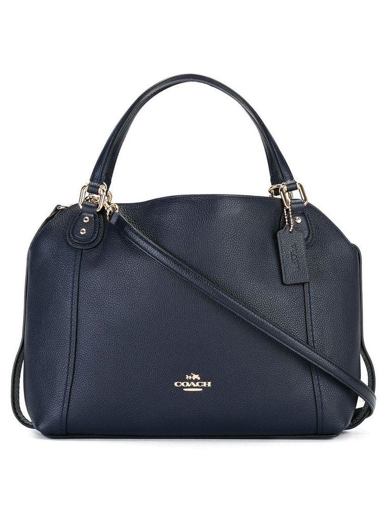 Coach removable strap tote - Blue