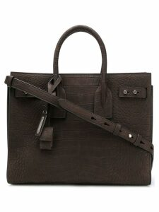 Saint Laurent crocodile embossed Sac de Jour tote - Brown
