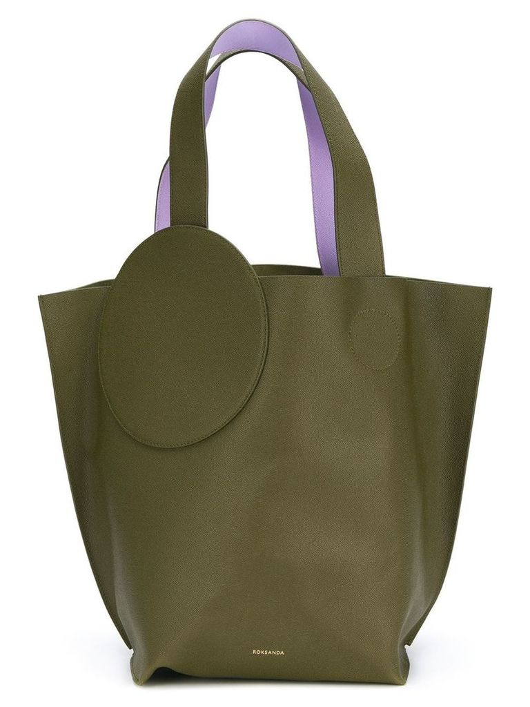 Roksanda circle path tote bag - Green