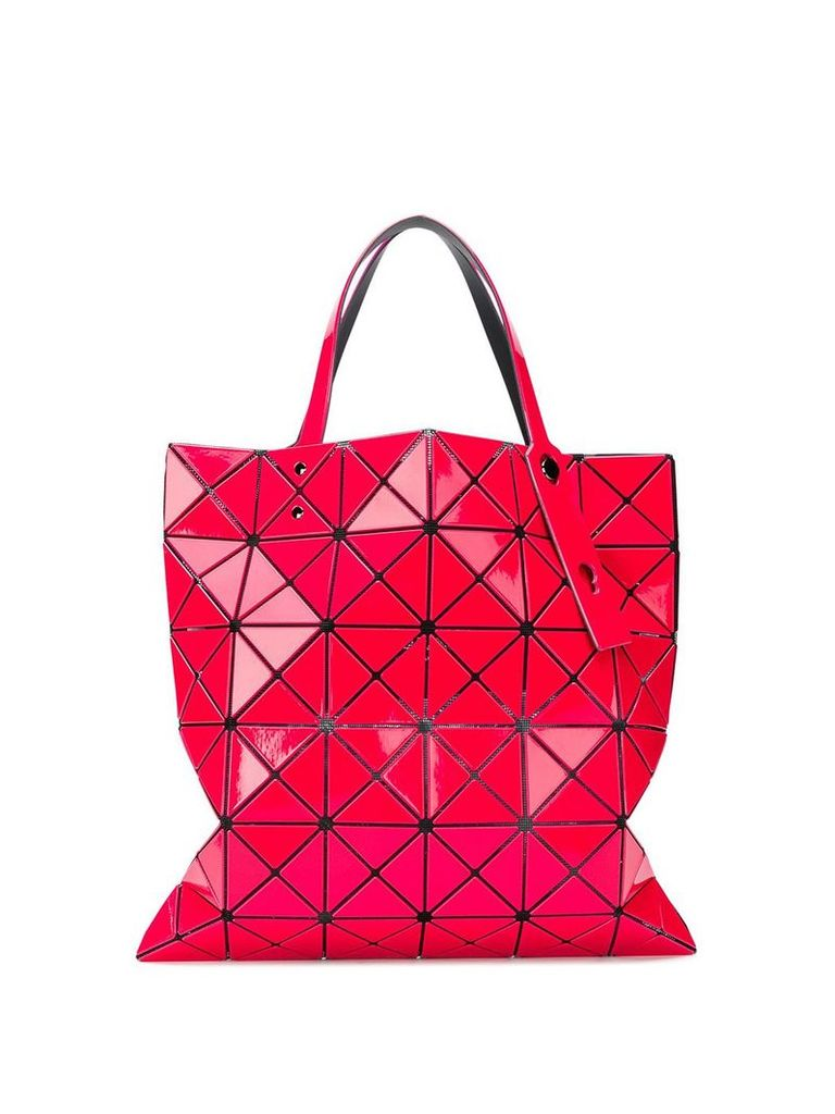 Bao Bao Issey Miyake geometric pattern tote bag - Pink